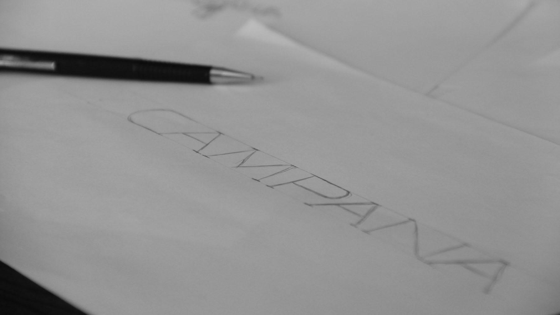 Rascunhos Criação de logo Campana - Campo Bom