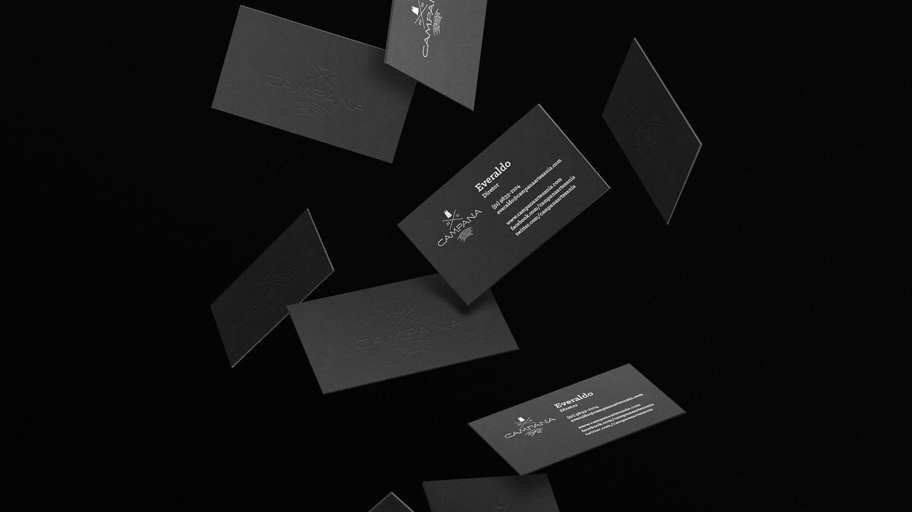 Criação cartões de visita - logo Campana - Campo Bom