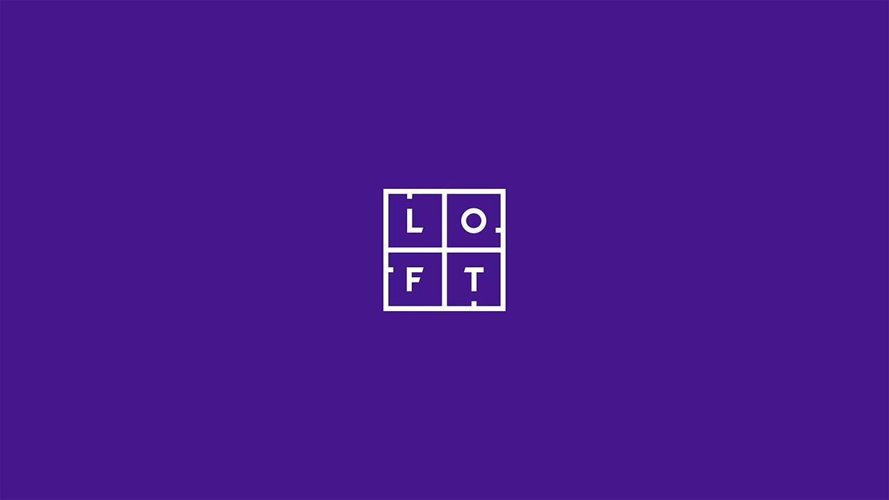 Versatilidade do logotipo da agência digital Loft