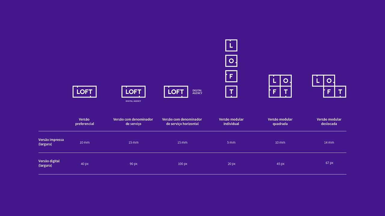 Versões da Marca Loft e suas reduções