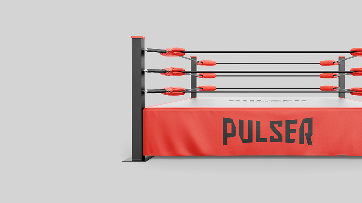 Ring para marca de luvas de boxe Pulser