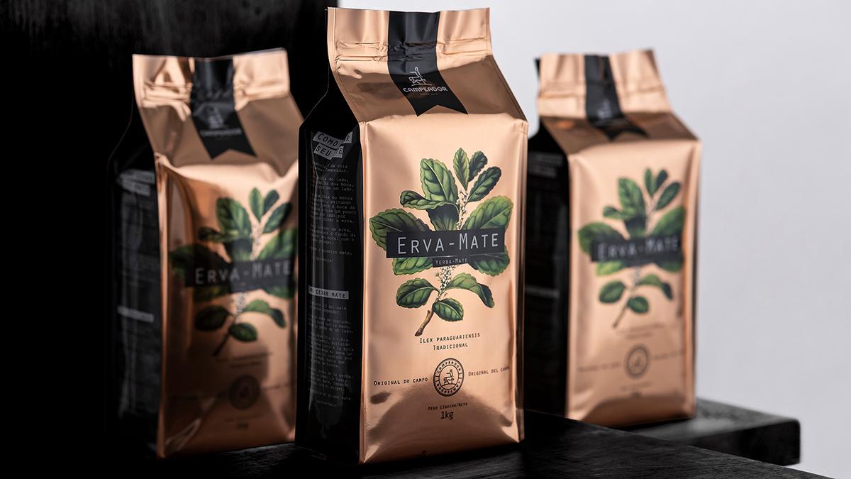Design de embalagens de erva-mate Campeador
