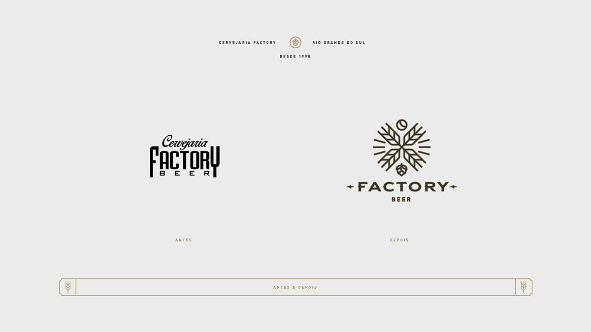 Evolução da marca Factory Beer